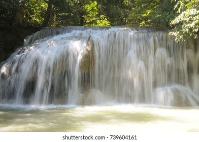 Waterfall at Erawan National Park, Thailand