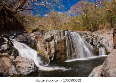Waterfall in exotic Costa Rica near Samara beach on east coast