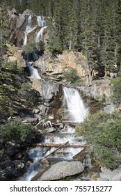 Waterfall Falling Down Mountain