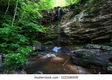 Waterfall flows through the wilderness of the Talladega National Forest in Alabama