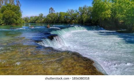 Waterfall Foam Trees River Nature