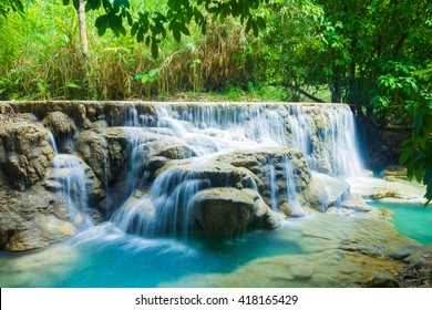 Waterfall in the forest ,Laos