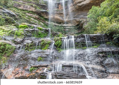 Waterfall in the forest on Blue Mountains National Park Australia UNESCO, Australia