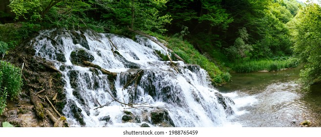 Waterfall in the Forest of Strandzha Mountain
