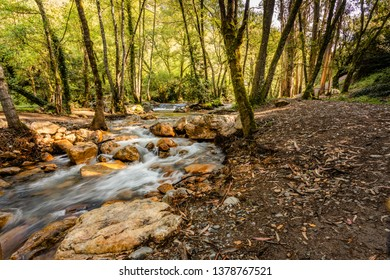 Waterfall in the Fragas de sao Simao, Figueiro dos Vinhos, Portugal