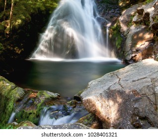 Waterfall of the Freyte - Ariege (France)