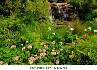 Waterfall and Garden in Angkhang  Mountain, Chiangmai : Thailand