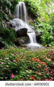 Waterfall and Garden in Assumption University, Thailand
