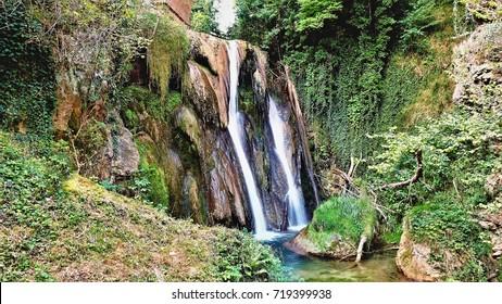 Waterfall in Germany near the village of Engen