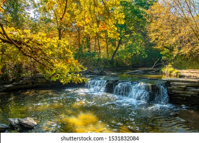 Waterfall Glen Forest Preserve view in Illinois