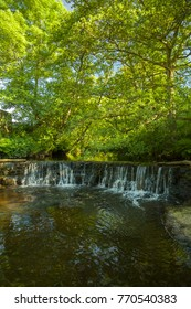 A waterfall in Goathland north york moors national park.