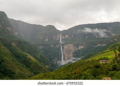 The waterfall of Gocta in the north Peru.
