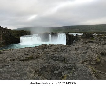 þingeyjarsveit waterfall or the Godafoss or waterfall of the gods is a waterfall in Iceland. The water of the river Skjalfandafljot falls from a height of 12 meters over a width of 30 meters.