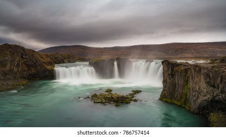 Waterfall of the Gods in Iceland also known as Godafoss