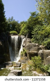 waterfall in Golden Gate Park, San Francisco, California