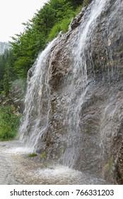 Waterfall at Gosau village, Austria