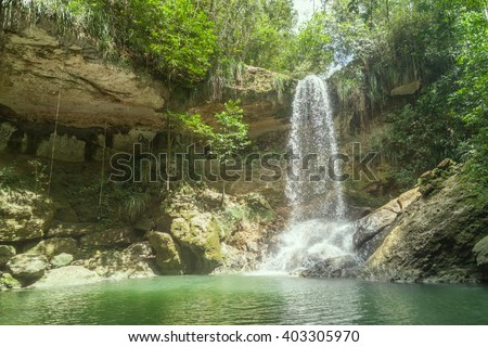 Waterfall in Gozalandia, Puerto Rico