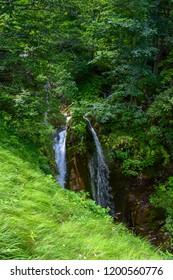 Waterfall in the Gran Sasso Mountains chain, Prati di Tivo, Teramo Province, Abruzzo Region, Italy
