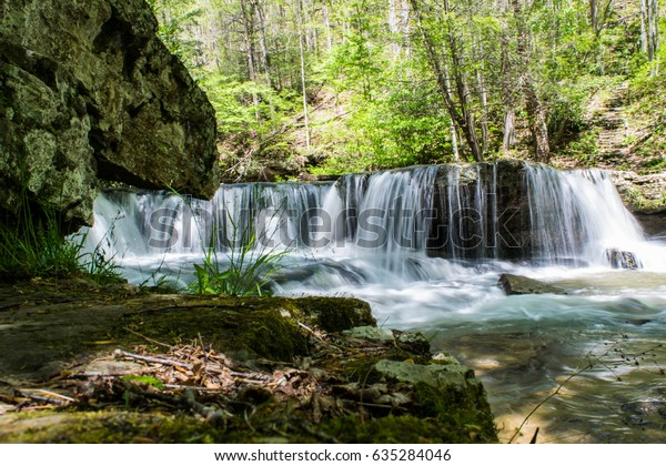 Camp Creek Wv >> Waterfall Ground Level Camp Creek Wv Stock Photo Edit Now