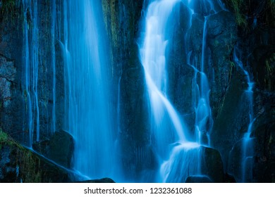 Waterfall in the Harz Mountains covered with ice