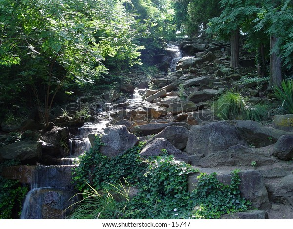 Waterfall in Honor Heights Park