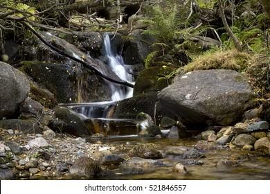 Waterfall. Horizontal composition.