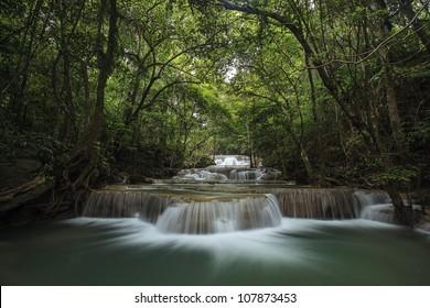 Waterfall Huay Mae Kamin in Kanchanabury, Thailand