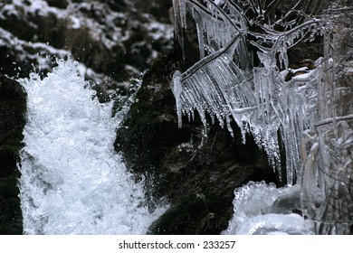 Waterfall and ice