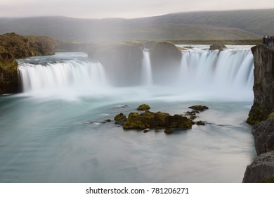 The Goðafoss is a waterfall in Iceland. It is located in the Bárðardalur district of Northeastern Region at the beginning of the Sprengisandur highland road.