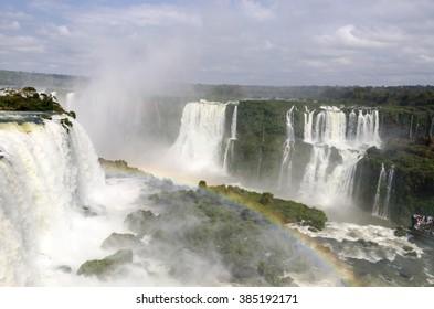 waterfall Iguacu Falls in Brazil and Argentina