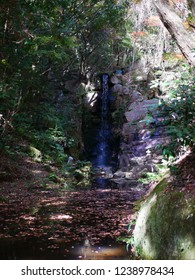 Waterfall in Iwayado. Iwayado is a natural shrine in Seto city(Japan).