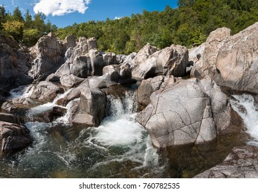 Waterfall at Johnson Shut inns State park in Missouri, USA