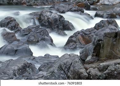 Waterfall at Johnson Shut Ins state park in Missouri.