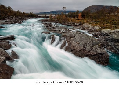 Waterfall at Jotunheimen Norway, taken with a long shutter time