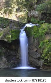"Waterfall ""Kamyanka"" in the Carpathian Mountains. Near Lviv, Ukraine"