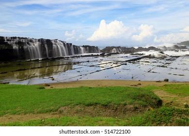 waterfall Karang Taraje,,Sawarna Beach Banten Indonesia