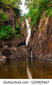 Waterfall Klong Plu Koh Chang,Trat, Thailand for holidays.