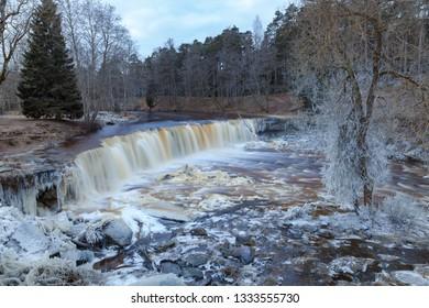 ?rozen waterfall known as Keila Juga in Estonia