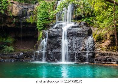 Waterfall in Koh Kood ,Trat,Thailand.