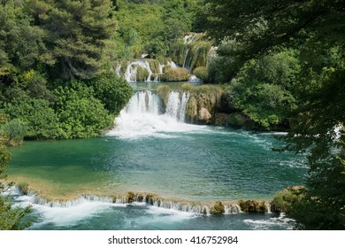 Waterfall in Krka, Croatia