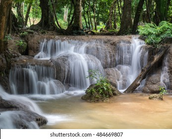 Waterfall Kroeng Krawia ,Kanchanaburi Thailand