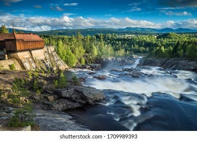 waterfall Labrofoss, Norway, Scandinavia, Europe.