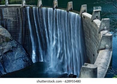 Waterfall at Lake Clementine, California
