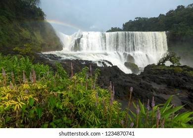 Waterfall landscape, Sae Pong Lai waterfall in Southern of Laos.