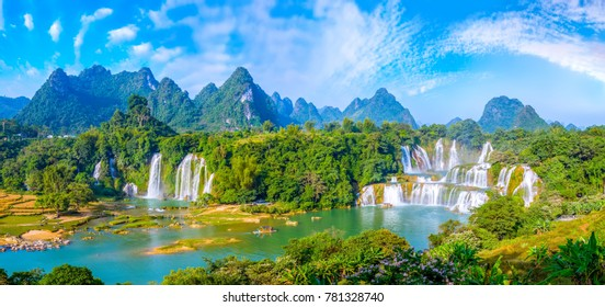 Waterfall of landscape scenery