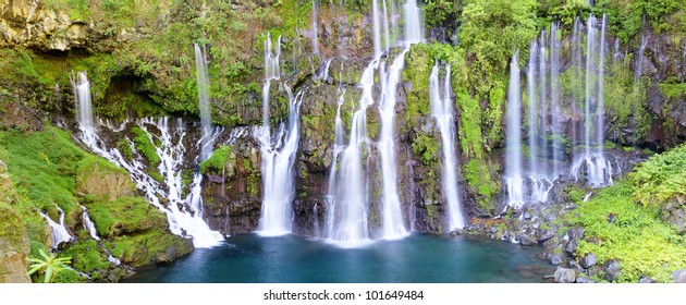 Waterfall of Langevin in Reunion island