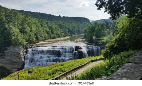 Waterfall in Letchworth state park