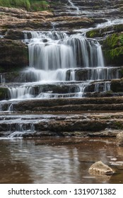Waterfall in long exposure in Cantabria. Spain