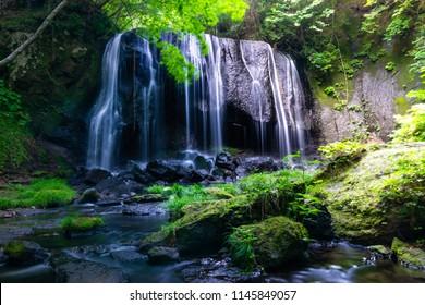 Waterfall long exposure of Tatsuzawa fudou taki in Fukushima, Japan. 達沢不動滝 福島県耶麻郡猪苗代