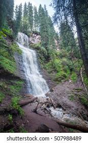 """Waterfall """"Maiden's Tears"""" valley Jets-Oguz. Issyk Kul, Kyrgyzstan"""